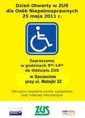 Dzień Otwarty ZUS dla Osób Niepełnosprawnych